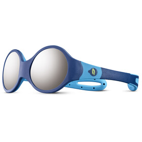 Julbo Loop M Spectron 4 Occhiali da sole Bambino, dark blue/light blue/grey flash silver